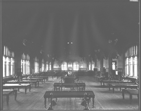 Completed Fisher Library in what is now the MacLaurin Hall, interior