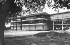 Newly completed undergraduate library prior to construction of stacks