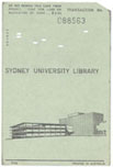 Library transaction card from punched card circulation system