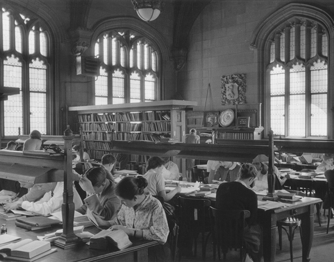 Old Fisher Library Reading Room, 1950