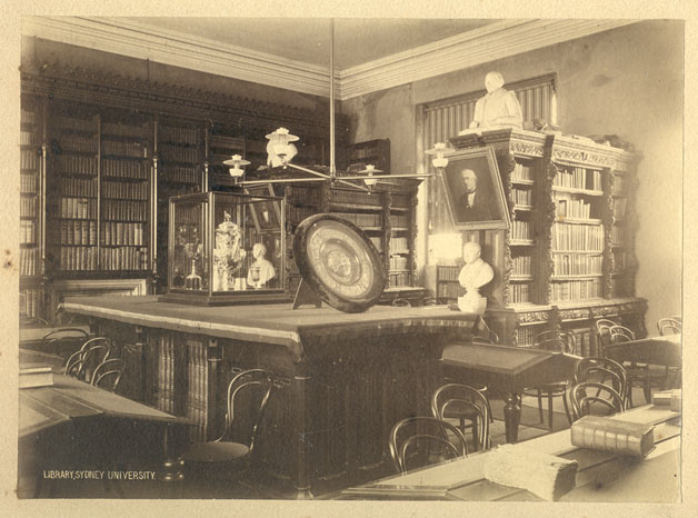 University of Sydney Library (1880's) in what is now the Senate Room