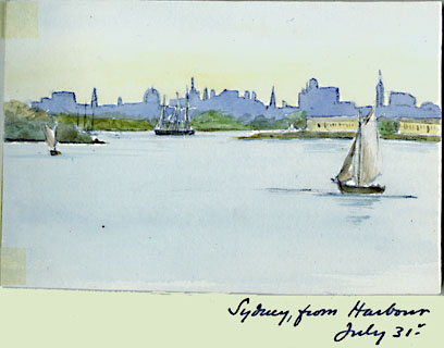 Evelyn Nicholson, Sydney from Harbour, 1897
